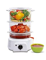 3 Vessels Steam Cooker + Idli Tray Free + Free Egg Tray + Rice Bowl