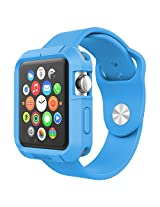 Poetic Turtle Skin Cover Case for Apple Watch 42mm Blue