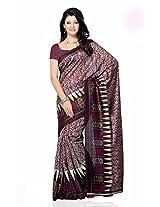 Shariyar Grey and Pink Jacquard Printed Saree PRG378