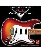 Fender Custom Shop Guitars 2015 Calendar (Square)