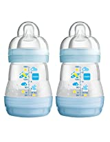 MAM Anti-Colic Bottle, Blue, 5 Ounce, 2-Count