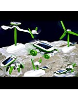 6 in 1 Solar Educational Kit Boat Fan Car Robot Toy Kids Toys Gift Game -106