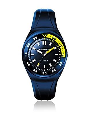 K&BROS Reloj 9475 (Azul Amarillo)