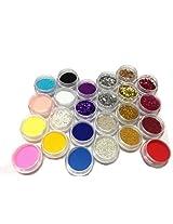 12 Colors Nail Art Powder Dust Glitter Sparkle Nail Tip Decoration (24 colors)