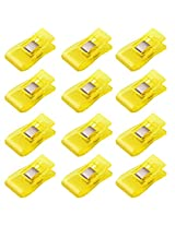 Imported 50 Pcs Wonder Clips for Crafts Hobbies Quilting Sewing Clips Yellow