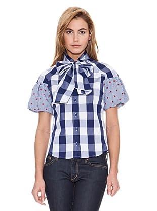 Vilagallo Camisa Preppy (Azul / Blanco)