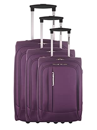 Platinium Set 3 Trolleys Mazzola (Morado)