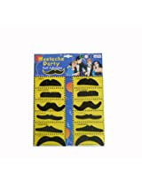 Party-Anthem Stickon Moustache (set of 12 )-Black