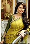 Madhuri Dixit lemon Green Bollywood Saree