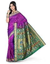 ISHIN Paithani Tana Silk Voilet Saree
