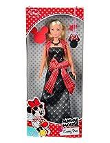 Simba Steffi Love Minnie Mouse Evening Dress, Black