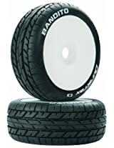 Duratrax Bandito C3 Mounted White Buggy Tire (2-Piece) (1/8 Scale)