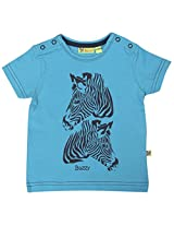 Buzzy Baby Boys' 12-18 Months Cotton T- Shirt (Turquoise)