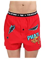 The Boxer Store's Phati Padi Hain Boxer for Men - Red (Small)