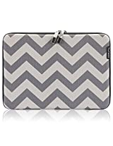 Runetz - 15-inch Hard Sleeve Case Cover for MacBook Pro 15.4 (with or without Retina) Gabbro Collection [Chevron Gray]