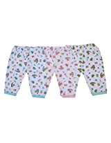 FabSeasons Cotton Pyjama / Bottom Wear for Infants, Pack of 3 for 3-9 Months