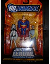 DC Universe Justice League Unlimited Superman, Silver Banshee, and Metallo