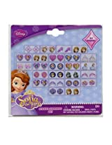 WeGlow International Sofia the First Stickers Earrings (72 Pairs Total)