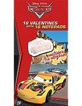 Paper Magic Cars Valentine Exchange Cards with Bonus Notepad (16 Count)
