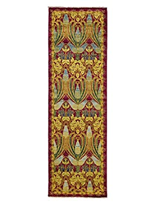Darya Rugs Arts & Crafts Rug, Purple, 2' 6