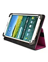 Kroo Universal Multi Fit 6 to 8 Inch Tablet Folio Case, Magenta (MU08EXM1-8349)