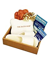 Premier Dead Sea Spa & Bath Gift Set Soothing Dead Sea Bath Salts Healing Dead Sea Mud Mask Relaxing Spa Pillow Soft Facial Cloth Comfy Spa Slippers 100% Money Back Guarantee