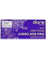 Diane Jumbo Bob Pins, Black, 1 Pound Box