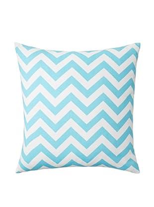 The Pillow Collection Xayabury Zig-Zag Decorative Pillow, Girly Blue, 18
