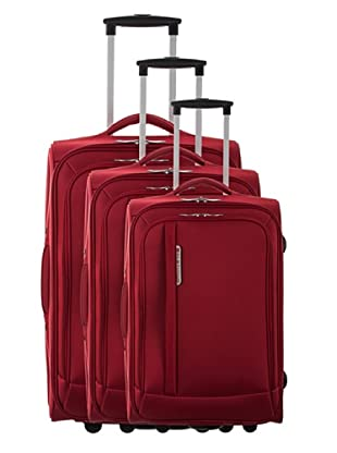 Platinium Set 3 Trolleys Mazzola (Rojo)