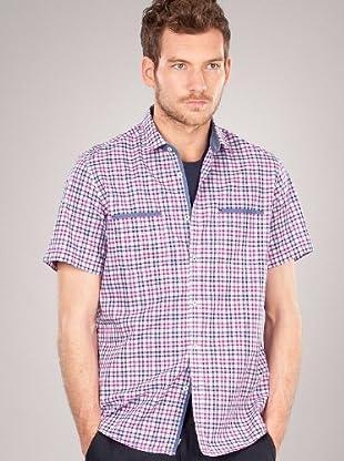 Hugo Boss Camisa Cuadros Pequeños (Violeta)