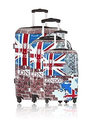 Travel ONE Set de 3 trolleys rígidos Alford 2 Multicolor