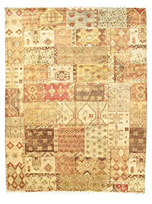 Hand-Knotted Royal Ushak Wool Rug, Beige, 9' 4