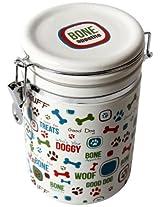 "DEI Stoneware Lucky Dog Collection ""Bone Appetite"" Treat Jar"