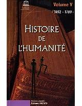 Histoire De L'humanite 1492-1789: 5 (Collection Histoire Plurielle)