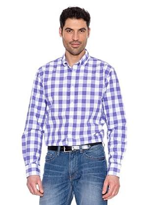 Pedro del Hierro Camisa Cuadros Vichy (Morado)