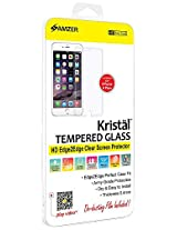 Amzer Kristal Edge2Edge Tempered Glass HD Clear Screen Protector Shield for Apple iPhone 6 Plus, iPhone 6s Plus - Screen Protectors - Retail Packaging