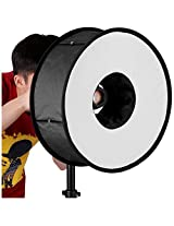 "Neewer Round Universal Collapsible Magnetic Ring Flash Diffuser Soft Box 45cm/18"" for Macro and Portrait Photography"