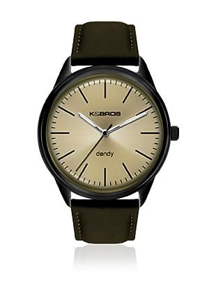 K&BROS Reloj 9486 (Verde Beige)