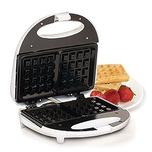 Elite Cuisine EWM-900BK Maxi-Matic Non-Stick Waffle Maker, White