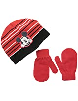 Disney Baby Boys' Mickey Mouse Beanie and Mitten Set