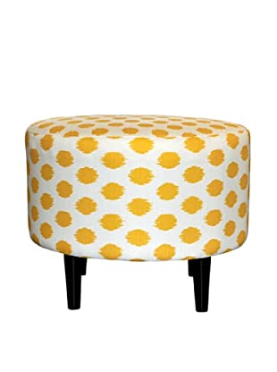 Sole Designs Sophia Jojo Round Ottoman, Yellow