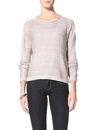 Suss Knitwear Women's Lanie Laceknit Boatneck (Silver)