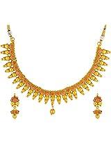 JFL- Grandiose Godly Gold Designer Necklace Set for Women