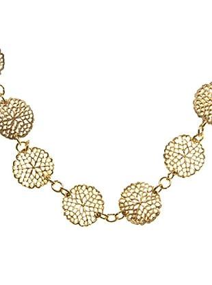 Sigris Collar Flor Troquelada (Dorado Viejo)