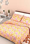 Mistyrose Double Bedsheet With 2 Pillow Covers Bombay Dyeing