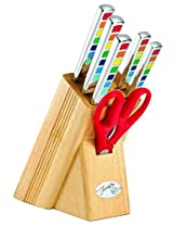 Fiesta 7-Piece Masquerade Cutlery Set with Block