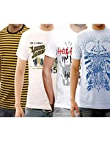 Funktees Best Price Premium Cotton L Size T Shirts - Pack of 4