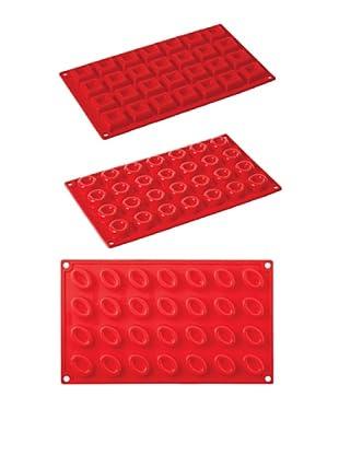 Pavoni Set 3 Moldes Mini Porciones