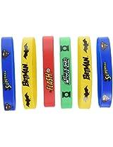 Justice League Rubber Bracelet Favors (4 Count)