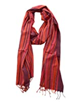 Dushaalaa Women's Scarves (scf038.3_Red, Red, L x B : 94 Inches X 39 Inches)